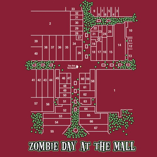 zombie day at the mall 500x500 Zombie day at the mall Zombies Humor Gaming
