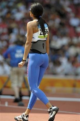 capt.7ab4a768a26b4584b57f7e8da1e6e70e.beijing olympics athletics womens javelin olyat174 Leryn Franco   Paraguay Sports Sexy