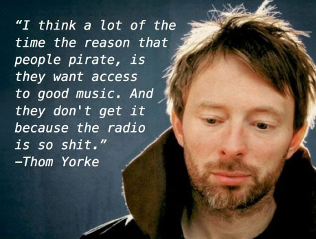 Piracy Thom Yorke on Piracy Quotes Music
