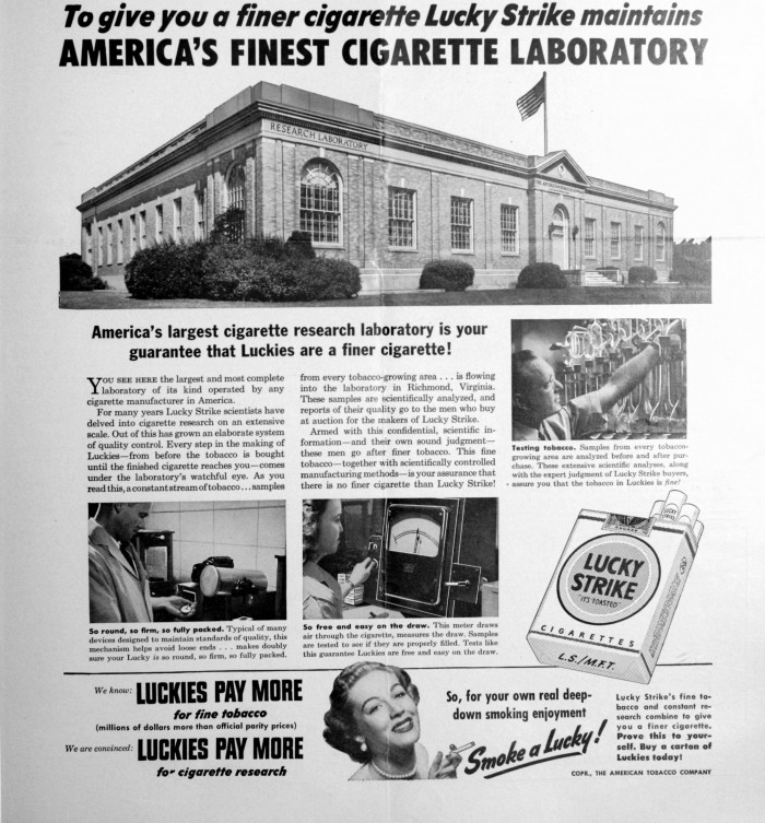 V8 700x753 Cigarette laboratory wtf advertisement