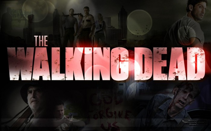 the walking dead wallpaper 700x437 The Walking Dead Logo Wallpaper The walking dead Television