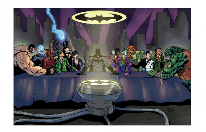 line4 18 13 700x449 Batman Last Supper