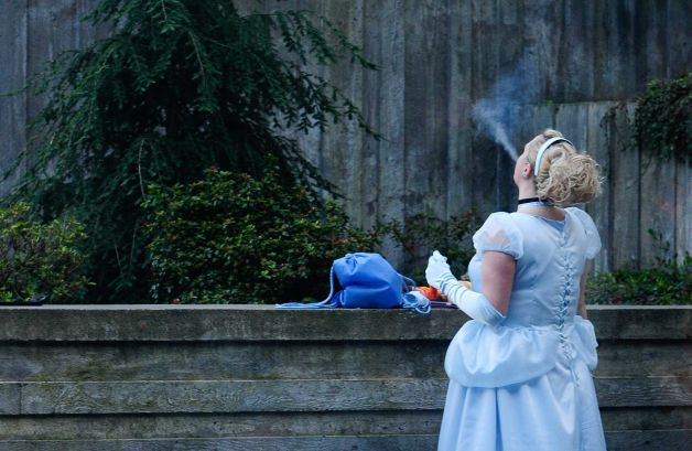 e Cinderella smoke break Humor