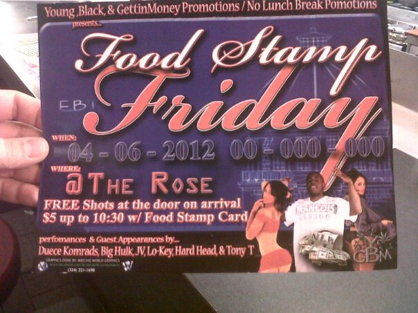 fff Food stamp Friday! wt