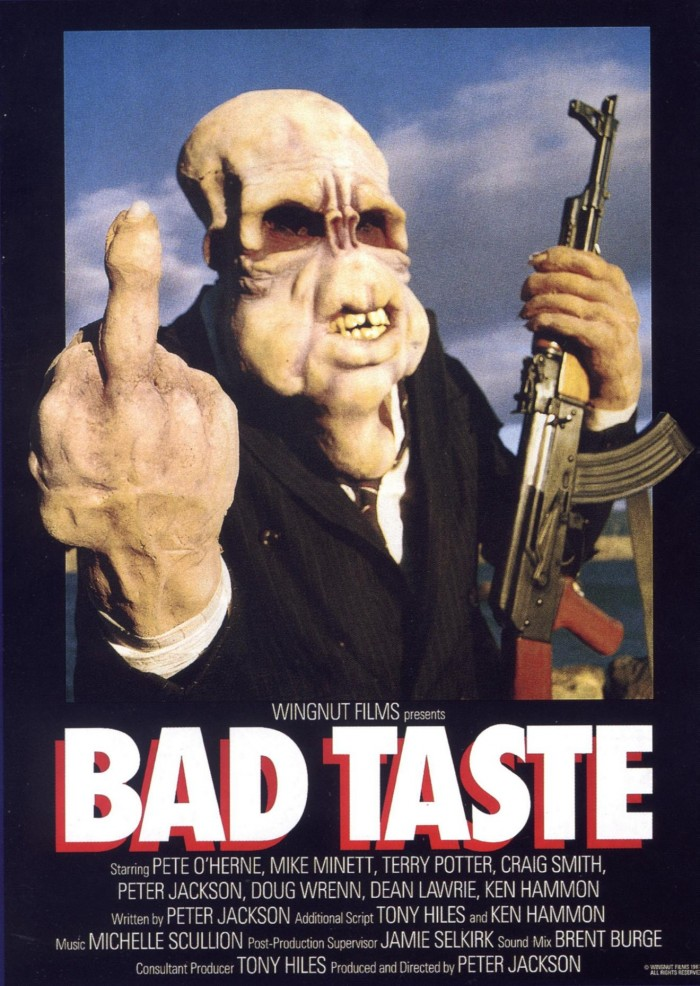 goodoldparanoia bad taste poster 01 700x986 BAD TASTE wtf Movies movie poster