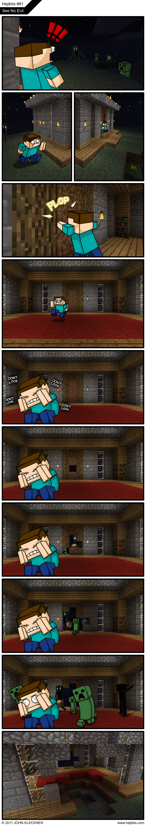 2011 09 26 see no evil minecraft comics minecraft Humor Gaming