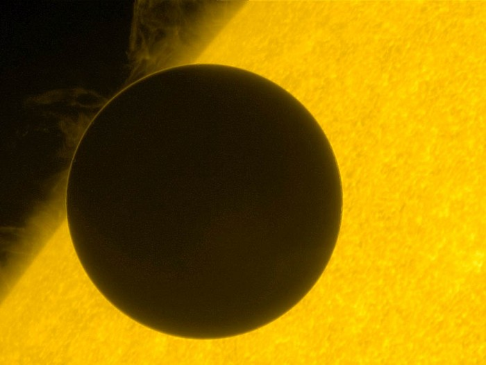Venus eclipse of the Sun