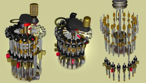 Curta Mechanical calculator   Mechanics 500x285 Curta Mechanical Calculator Science!