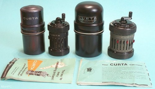 Curta Mechanical calculator   Models 500x288 Curta Mechanical Calculator Science!