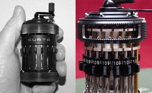 Curta Mechanical calculator 500x306 Curta Mechanical Calculator Science!