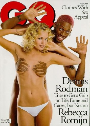 rebeccaromijn yxiRyLwMBIv 1143784257 356x500 Dennis Rodmans and Rebecca Romijn Visual Tricks Sports Sexy