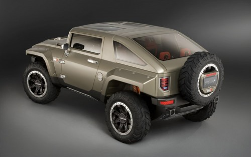 112 0801 11z+hummer HX concept+rear three quarter view 500x312 Hummer HX Concept Vehicle Cars