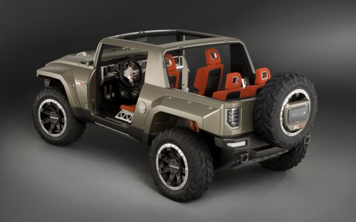 112 0801 13z+hummer HX concept+rear three quarter view 500x312 Hummer HX Concept Vehicle Cars