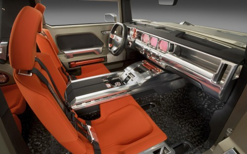 112 0801 18z+hummer HX concept+interior 500x312 Hummer HX Concept Vehicle Cars