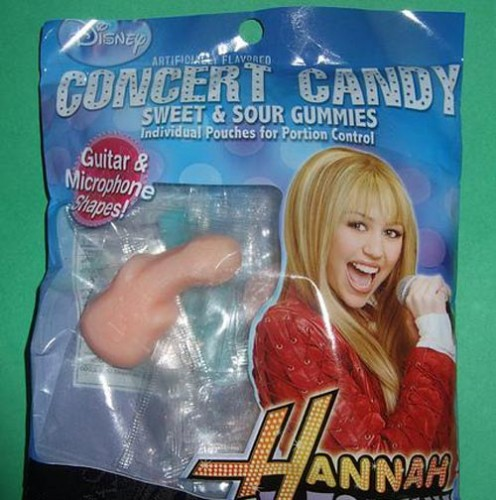 guitarshape 496x500 Hanna Montana Candy Food