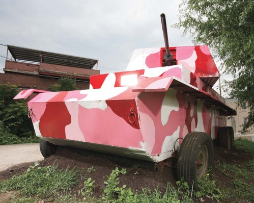 panzer 970 499x398 Pink Pedal Powerd Panzer Humor