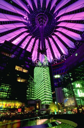 SonyCenterAtNight 329x500 Sony Center at night Awesome Things