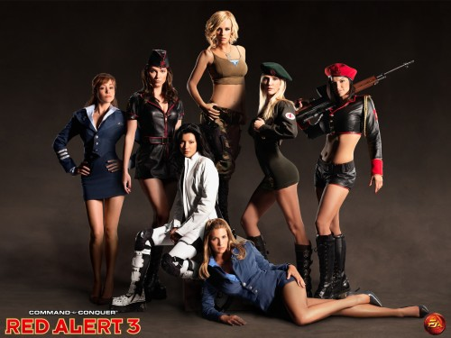 RA3Girls noscale 500x375 Red Alert 3 Female Cast Wallpaper Wallpaper