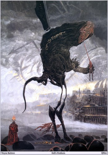 QMan WB BI 1595 Hells Firstborn 349x500 The Art of Wayne Barlowe wtf Art