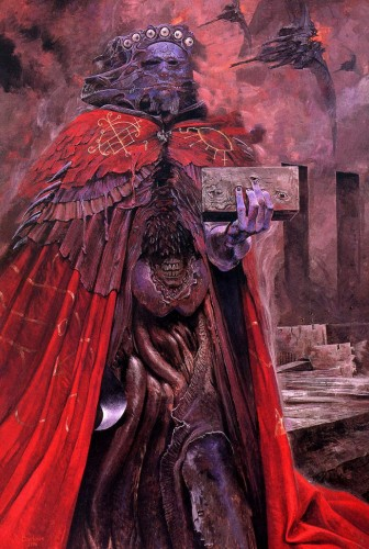 barloweholdabrick9yf 336x500 The Art of Wayne Barlowe wtf Art
