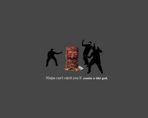 n 500x400 Ninjas VS Tiki God Tiki Humor