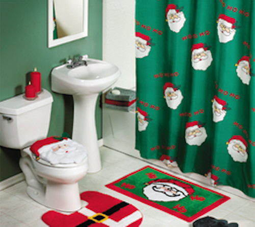 christmas 4 pc bath set Christmas crappers X Mas Humor