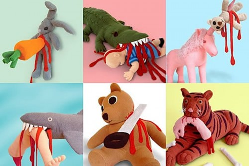 cuddly toys of death 500x333 Cuddly toys of death  Toys Cute As Hell Animals