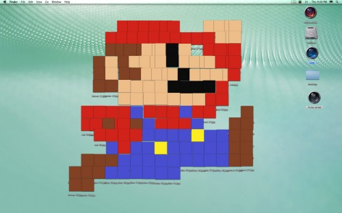 mario1 500x312 Desktop Clutter Art Wallpaper Television Movies Gaming Computers Art
