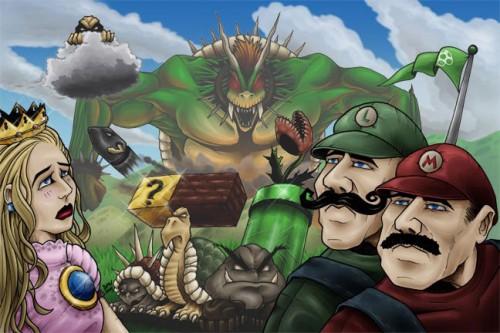 supermariobros 500x333 Super Mario Bros Video Games Gaming Art
