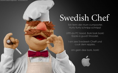 swed 500x312 The Swedish Chef for Apple Computers Humor Computers Advertisements