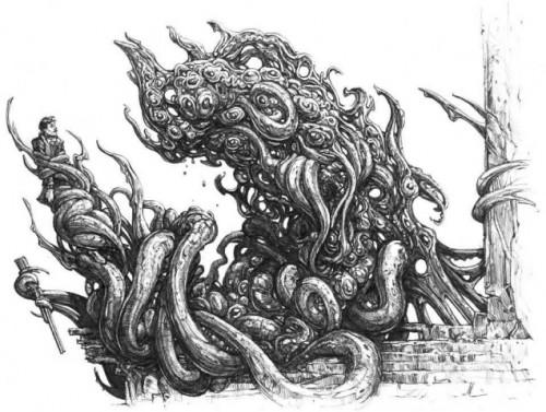 shoggoth 500x377 A Proper Shoggoth Cute As Hell Animals Cthulhu Art