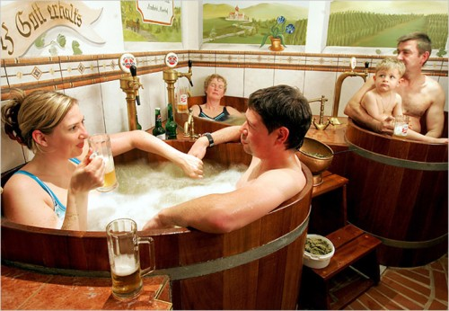 30surf.1large 500x346 Czech beer spa and bath wtf Alcohol