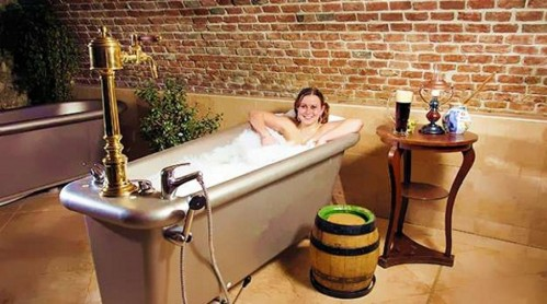 czech beer bath 499x278 Czech beer spa and bath wtf Alcohol