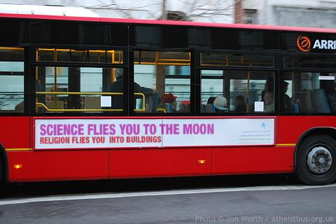 victor stenger bus Science = moon. Religion = buildings. Science! Religion Humor