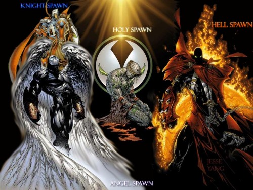 spawn 500x375 The Redeemer, The Destroyer, The Knight, and the The Forsaken Comic Books