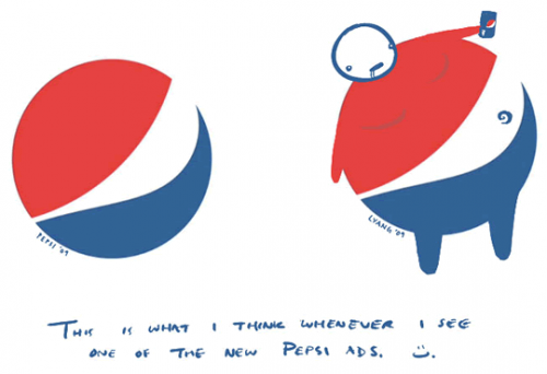 pepsi logo hack 500x342 New Pepsi Logo Humor Food