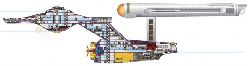 constitution cutaway 500x134 The visible Constitution class Television star trek