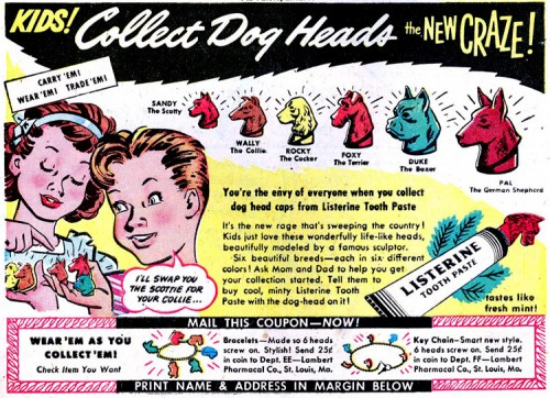 collectdogheads 500x362 Collect Dog Heads Toys Cute As Hell Animals Comic Books Advertisements