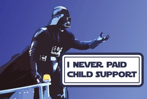 INeverPayedChildSupport 500x337 Darth Vader: I Never Payed Child Support wtf star wars Art