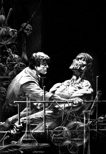 wrightson frankenstein 10 343x500 Frankenstein illustrations by Bernie Wrightson wtf Fantasy   Science Fiction Comic Books