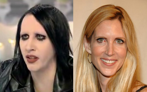 coulter mansonSAB Separated at birth? wtf Visual Tricks Politics Music Humor