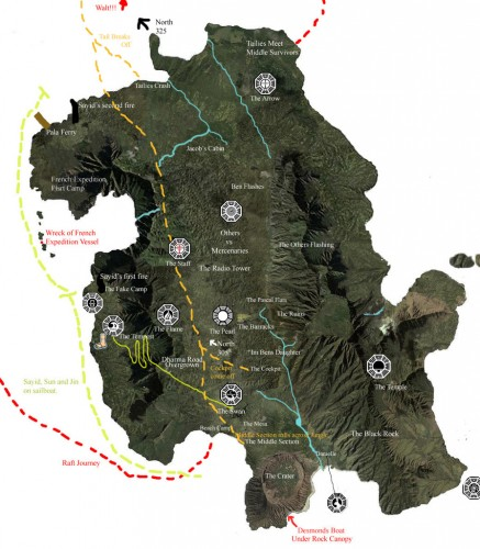 lostislandmap recent 437x500 Most recent Lost map... Television Fantasy   Science Fiction