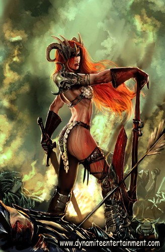 savage tales   red sonja cover by nebezial 328x500 Red Sonja Art