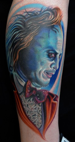 beetlejuice 265x500 Awesome 80s Tattoos Television Tattoos Sexy Art