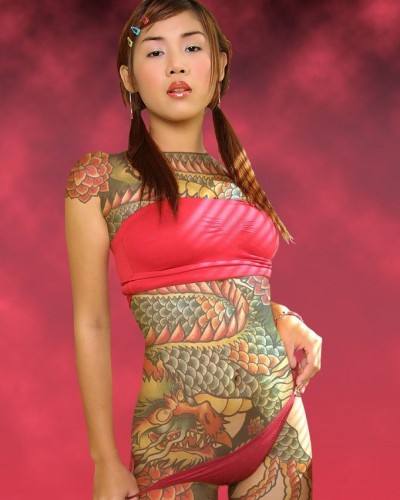 Tattoed Japanese Lady 400x500 Tats!