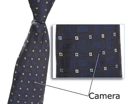 tie spycam 1 Hidden Necktie Camera For Corporate Spying Technology