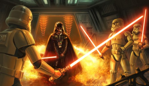 Stormtrooper Saber art 500x289 Darth Vader, and Storm Troopers with lightsabers? star wars Movies Fantasy   Science Fiction