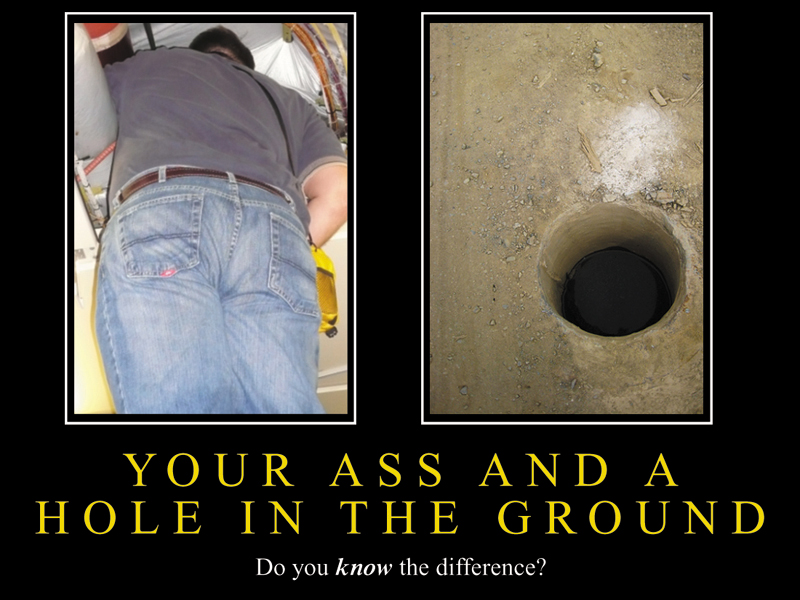 Ass and the hole in the ground