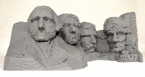 Rushmore1 500x267 LEGO Art Politics Music Movies Legos