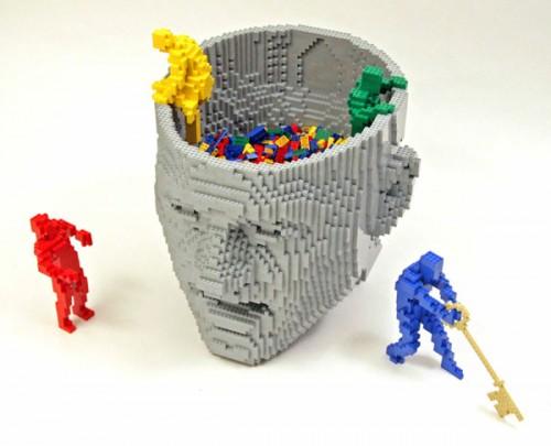think 500x405 LEGO Art Politics Music Movies Legos